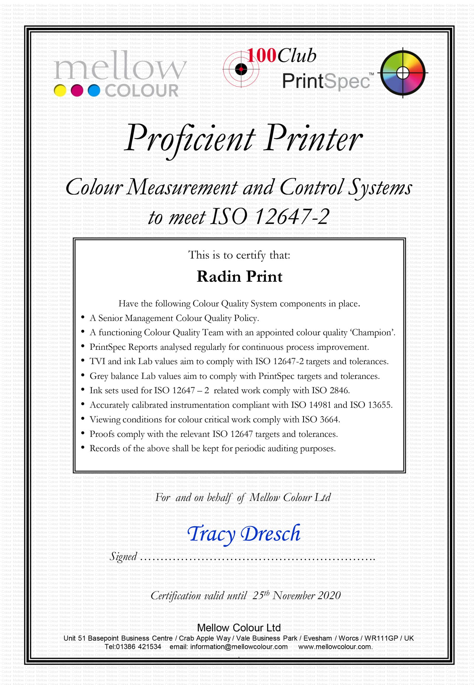 Radin - LIDL 2019 Proficient Printer Certificate